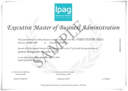 """法国IPAG高等商学院""""时尚奢侈品管理""""EMBA证书"""